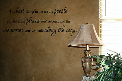 (THE BEST THINGS IN LIFE QUOTE WALL ART DECAL STICKER DECOR LETTERING HOME DECAL )