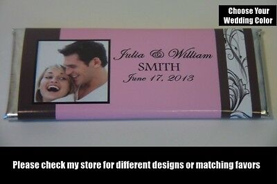 10 Photo Personalized Wedding Candy Bar Wrappers Customized Weddings Favor - Custom Candy Bar Wrappers