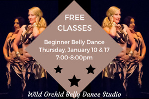 FREE Beginner Belly Dance Classes at Wild Orchid