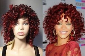 BRAND NEW: Deluxe Curly Red Ombre RIHANNA Wig