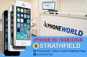 IPHONE5S 16GB MINT CONDITION / 3 MONTHS WARRANTY Strathfield Strathfield Area Preview