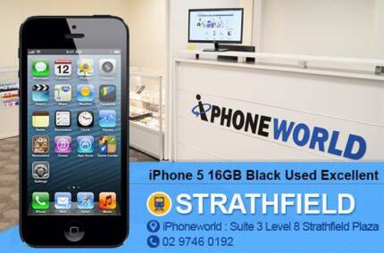 iPhone 5 16GB Black Used unlocked Excellent condition Strathfield Strathfield Area Preview
