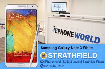 Samsung Galaxy Note 3 32GB White AS NEW Strathfield Strathfield Area Preview