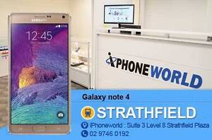 Galaxy NOTE 4 32GB Used Excellent condition //UNLOCKED// Strathfield Strathfield Area Preview