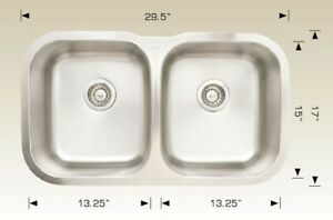 CLEARANCE SALE ONLY $89 UNDER MOUNT STAINLESS STEEL SINK