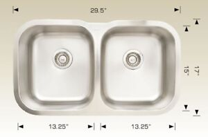 CLEARANCE SALE $89 STAINLESS STEEL UNDER MOUNT SINK