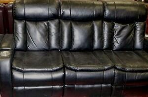 Leather couch & chair for Christmas!