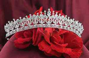 BRAND NEW! Elegant Royal Vintage Victorian Crystal Tiara Crown
