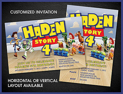 Toy Story Inspired Custom Birthday Invitations