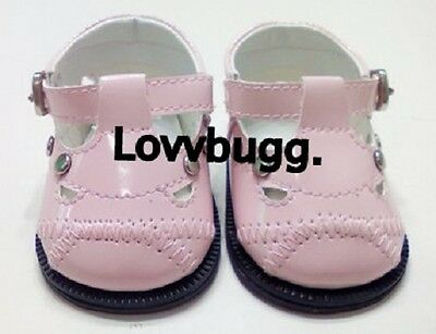 "Lovvbugg T Strap Mary Janes for 18"" American Girl n Bitty Bitty Doll Shoes"