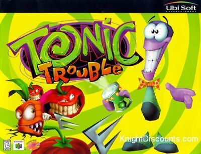 TONIC TROUBLE Classic Kids Adventure PC Windows CD-Rom Game Ubi Soft BRAND NEW