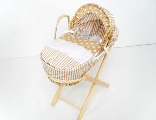 dolls moses basket stand ebay. Black Bedroom Furniture Sets. Home Design Ideas