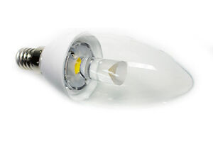 LED Candle Lights E14 E27 B15 B22 3W SMD Warm Cool White Hi Power Light Bulb