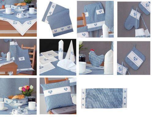 tischdecke blau kariert ebay. Black Bedroom Furniture Sets. Home Design Ideas
