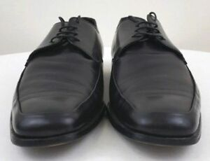 PRADA Milano 1598 Mens Formal Black Leather Dress Shoes Size 7.5