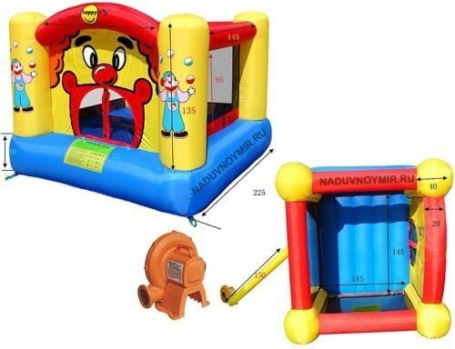 Kids bouncy castle with electric buy sale and trade ads for Happy hop clown bouncy castle