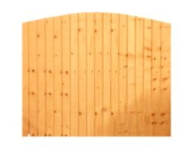 Featheredge Dome Fence Panel 6ft x 5ft