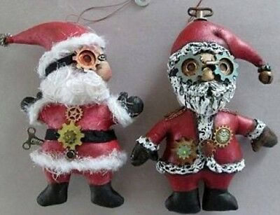 "*NEW* CLOTH FOLK ART DOLL (PAPER) PATTERN ""SANTA ORNAMENTS"" BY SUSAN BARMORE"
