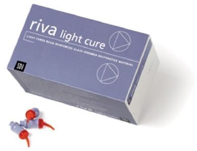 Dental Sdi Riva Lc Light Cure Glass Ionomer Capsules 50 Capasule