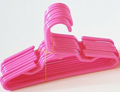 10 Pink Plastic Doll Hangers Fits 18 Inch American Girl Doll Clothes - Pink Plastic