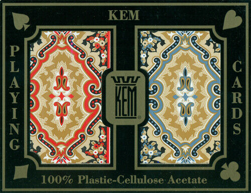 KEM Playing Cards Paisley (Red/Blue) - Narrow Standard Deck