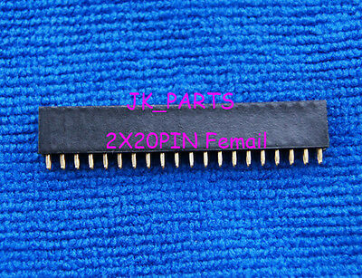 10pcs 2x20 Pin 2.54mm Double Row Female Pin Header