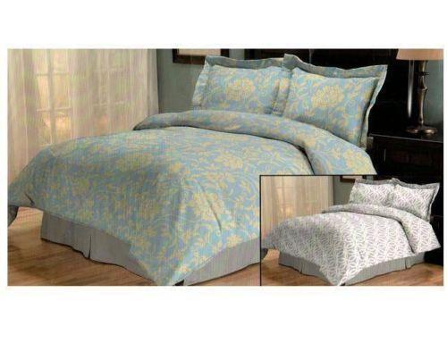 Yellow And Grey Twin Comforter Set: Blue Yellow Comforter