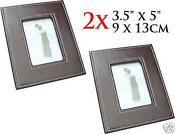 Brown Faux Leather Photo Frame