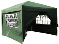 Brand New (unboxed) 3x3mtr Pop Up Waterproof Gazebo Green with 2 WindBars and 4 Leg Weight Bags