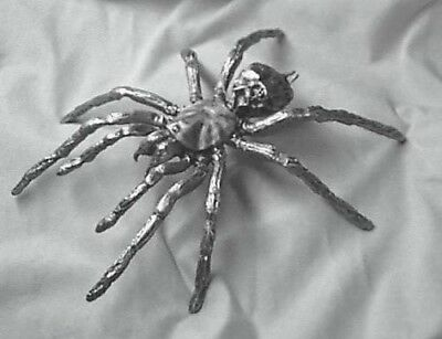 Large Pewter Spider, Bird Eater, 6-1/2 inches x 7-1/2 inches