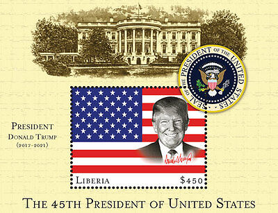 Liberia 45th President of the US - Donald Trump S/S