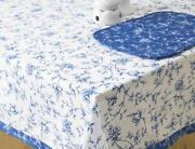 Blue Cotton Tablecloth