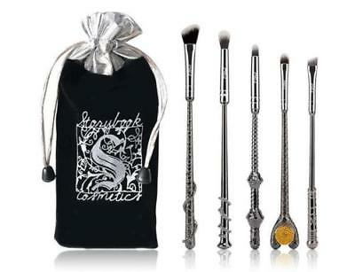 5pcs Harry Potter Fans Professional Make Up Brushes Metal Babuki Makeup Set - Cheap Make Up Kit