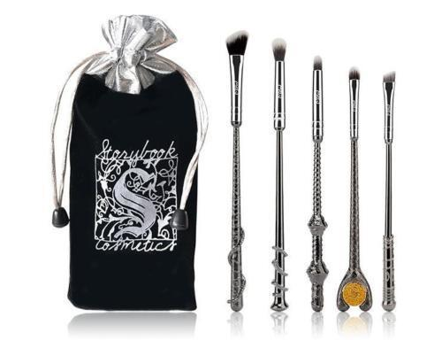 5pcs Harry Potter Fans Professional Make Up Brushes Metal Babuki Makeup Set Kits Brushes
