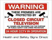 Plastic CCTV Signs