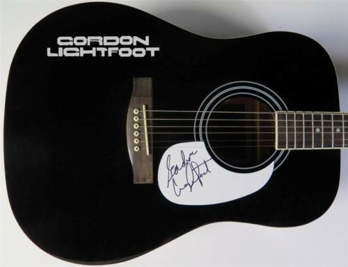 GORDON LIGHTFOOT Signed Autograph Guitar