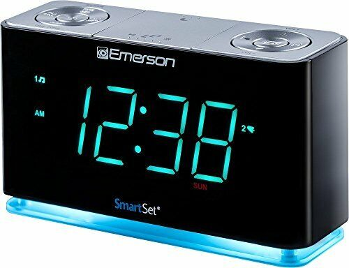 Emerson SmartSet Alarm Clock Radio with Bluetooth Speaker, C