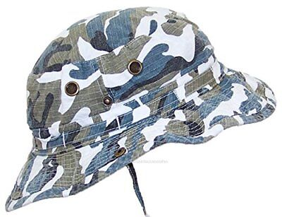 MG Camouflage Ripstop Floppy Bucket Summer Hat W Snap Up Sides & Chin Strap](Mg Hats)