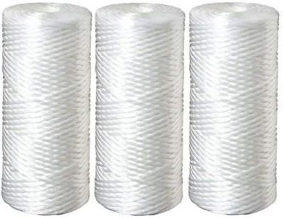 String Wound Polypropylene Filter - Three 5 Micron Polypropylene String Wound Water Filter Cartridges Compatible wit