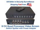 Color 8 Home Surveillance Video Processors & Switchers