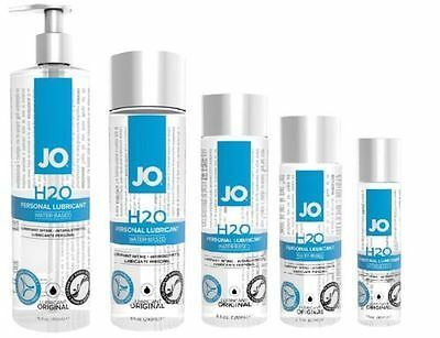 System Jo H2o Water Based Personal Sex Lube Lubricant   All Sizes