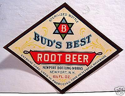 Vintage Buds Best Root Beer Soda Label Newport