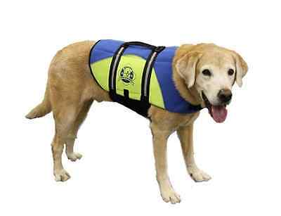 Paws Aboard BLUE/YELLOW Neoprene Dog Life Vests Safety (Yellow Dog Safety Vest)