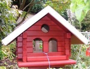 bauanleitung f r ein vogelhaus blockhaus ebay. Black Bedroom Furniture Sets. Home Design Ideas