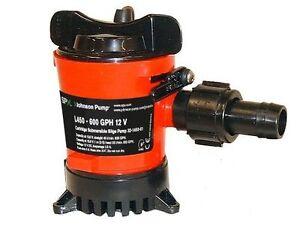 Johnson L450 Duraport Submersible Bilge Pump. 600GPH 12v - 19mm (3/4