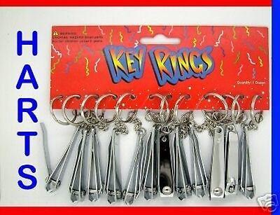 12 Stück x Metall Nagelknipser ~ Schneider Schlüsselanhänger Großhandel