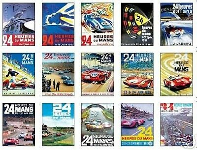 Le Mans F1 Grand Prix Posters Trading Card Set uncut