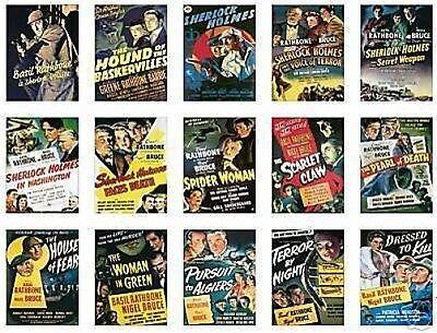Sherlock Holmes Basil Rathbone Trading Card Set
