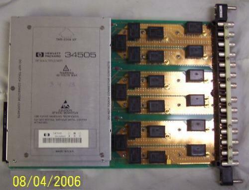 HP Agilent Keysight 34505 50 Ohm RF Multiplexer Module