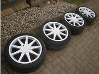 Genuine TTE Lexus gs300 Is Gs ls Sc alloys with tyres x5 staggered 8.5j mint 5x114 supra altezza